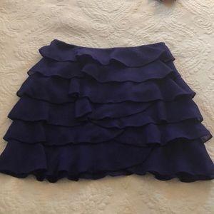 Karen Millen Blue Ruffle Skirt size 8
